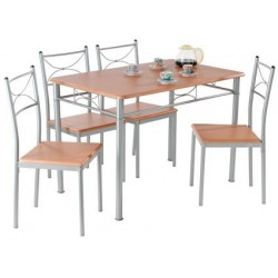 Table Annapurna + 4 Chaises