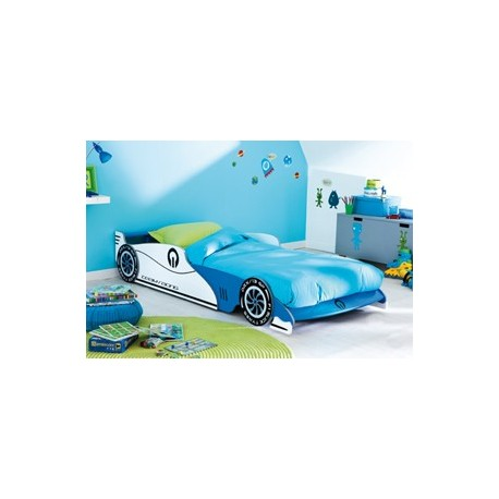 Lit voiture Grand Prix Bleu