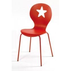 Chaise moderne VEGA rouge