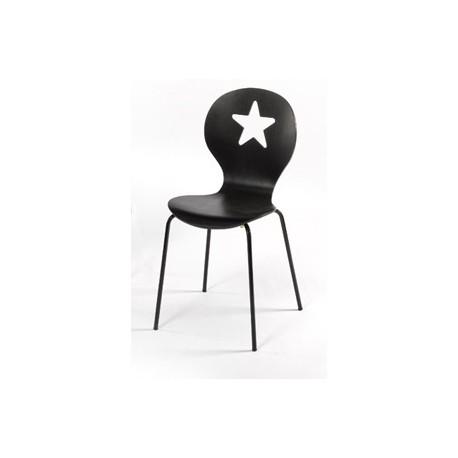 Chaise moderne noire VEGA