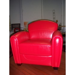 Fauteuil club rouge