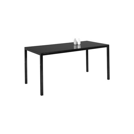 Table verre noir